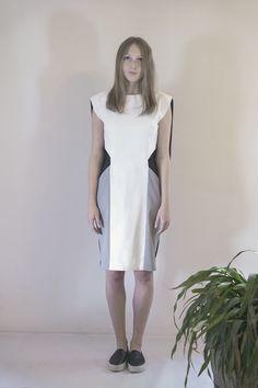 FLUMEN color block dress #PANTHEIST #FLUMENcollection #womenswear