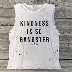 Size M/6-8 Kindness Is So Gangster Splatter Paint by everfitte
