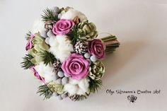 Winter bouquet Bridal bouquet Wedding bouquet by CoolClayFlowers