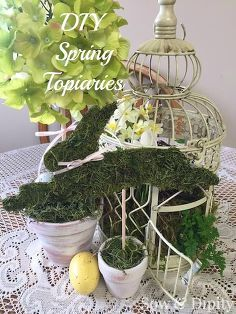 diy topiaries, crafts, easter decorations, how to, seasonal holiday decor