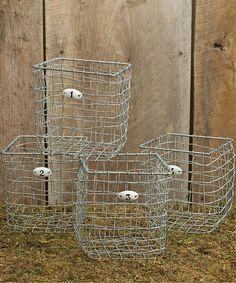 Love this Numbers Wire Basket Set on #zulily! #zulilyfinds