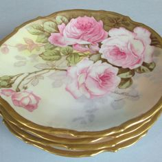 Pink roses plates