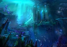 Background:undersea city by Ecystudio.deviantart.com on @deviantART