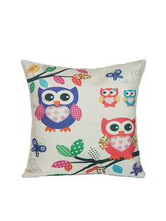 pillow offers online. shop beige owl print cartoon square cushion cover online. shein offers pillow online