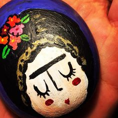 Frida #piedraspintadas #frida #colors #stone #paintingstones