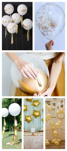 Lovely Ideas For Gold Balloons!