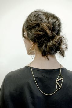 Geometric necklace by palomarie