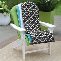 Coral Coast Lakeside Adirondack Chair Cushion | from hayneedle.com