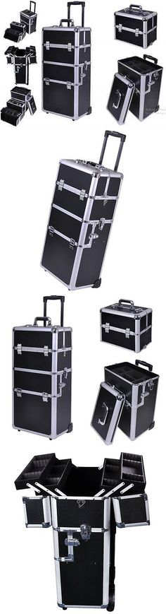 Rolling Makeup Cases: Box Professional Rolling Makeup Train Case Cosmetic Organizer Trolley Beauty New -> BUY IT NOW ONLY: $122.1 on eBay!