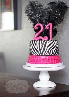 21st birthday zebra cake!