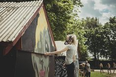 Emilia Illustration, Roskilde Festival. Streetart