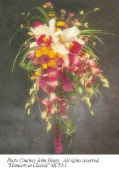 hawaiian wedding bouquet arrangements | Pale peach anthuriums take center stage with this exotic choice. These ...