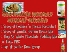 Herbalife Nutter Butter shake recipe GoHerbalife.com/Stephaniebox
