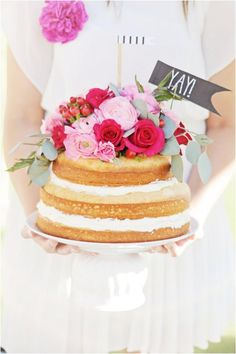 All about the naked floral cake - how to make it and what flowers to use.
