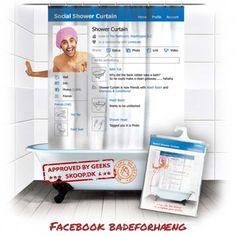 Facebook Badeforhæng Magazine Rack, Curtains, Shower, Facebook, Storage, Furniture, Home Decor, Rain Shower Heads, Purse Storage