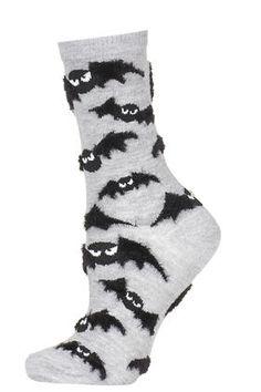 Fluffy Bat Halloween Socks