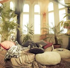 Lounging area. Love these windows.