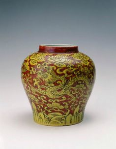 Jar with dragons amid clouds, Ming dynasty (1368-1644), Reign of the Jiajing emperor (1522-1566)
