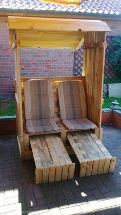 Recycled Pallet Strandkorb Chair