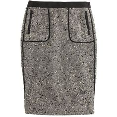 J.Crew Collection shimmer tweed pencil skirt found on Polyvore