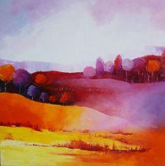 80X80 Quelques heures de printemps - Painting,  80x80 cm ©2015 par Sylvie NICOD -  Peinture