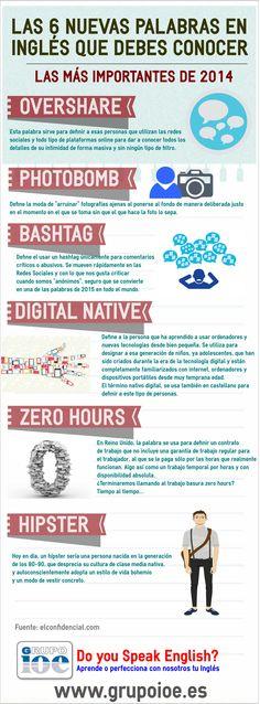 Os dejamos esta #infografía con las 6 nuevas palabras en inglés que debes conocer. http://lnkd.in/d3e5Dg7
