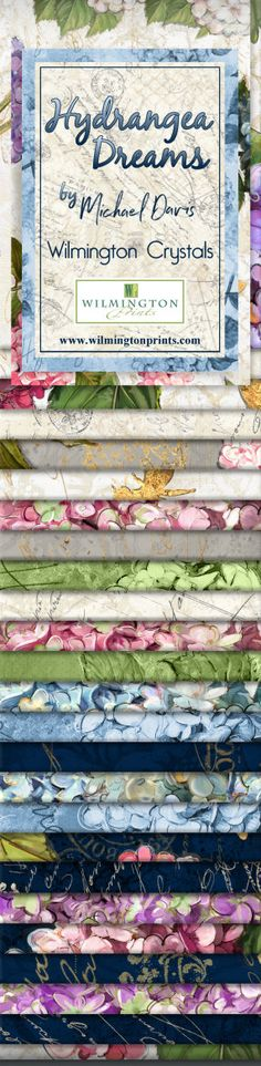 2.5 x 42 Precut Fabric Strips Amorette Mini Crystals  Junior Jelly Roll by Kaye England 24 Wilmington Prints
