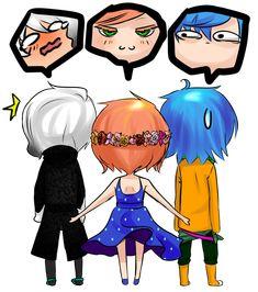 Lysandro, Alexy y Sucrette