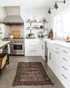 Vintage rug in a classic kitchen