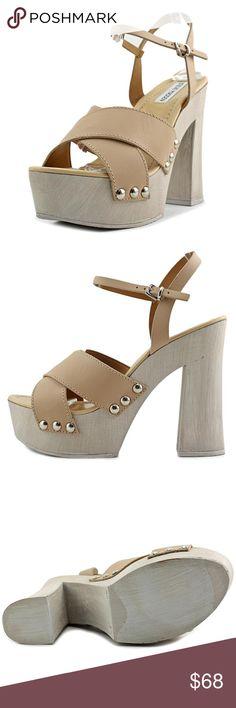🆕 Nude Platform Sandals Gorgeous nude platform Sandals with studded accents Steve Madden Shoes Sandals