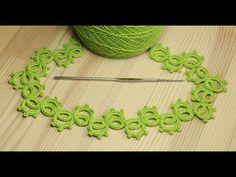 (46) Ленточное кружево фриволите вязаное крючком мастер класс - crochet lace - YouTube