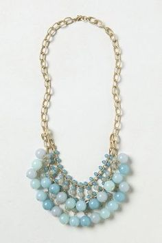 Azure Teardrops Necklace