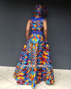 Telling African Story Through African Print African Dresses For Women, African Attire, African Wear, African Fashion Dresses, Red A Line Skirt, Ankara Dress Styles, Womens Dress Suits, African Traditional Dresses, African Print Fashion
