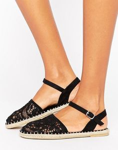 Lace Espadrille Sandals