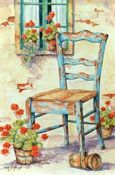 Watercolor Landscape, Watercolour Painting, Watercolor Flowers, Watercolors, Pintura Country, Beautiful Paintings, Painting Inspiration, Art Pictures, Flower Art