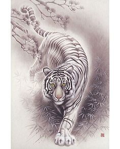 White Tiger - Japanese Design 2016 Very Small Piece Jigsaw Puzzle featured on Jzool.com