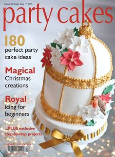 Birdcage Christmas cake by Sugar Ruffles & Photography by www.skhp.co.uk