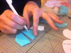 How to make baby Converse from fondant Part 1