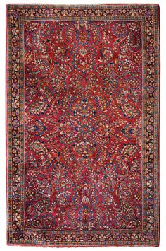 Antique Sarouk Rugs Gallery: Antique Sarouk Rug, Hand-knotted in Persia; size: 4 feet 2 inch(es) x 6 feet 6 inch(es)