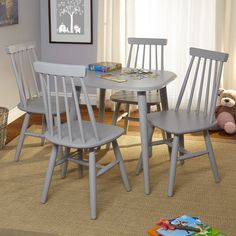 Simple Living Fiona Kids Table Set Grey Table and Chairs) Kids Table Chair Set, Kids Play Table, Toddler Table And Chairs, Kid Table, Kids Furniture Sets, Toddler Furniture, Furniture Deals, Online Furniture, Colorful Chairs