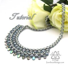 This is a tutorial pattern in PDF format. You are not purchasing the Luxor Necklace with this listing.  A stunning bib necklace made with Kheops® Par Puca® beads, Pip beads and SuperDuos, a contemporary style with undertones of Ancient Egypt. MATERIALS 15g SuperDuo beads 5g size 11 seed beads 5g size 15 seed beads 10g Kheops® Par Puca® beads 5g Pip beads Clasp Size 11 or 12 beading needle Thread of your choice   All files are instant download upon confirmation of payment. If you have any…