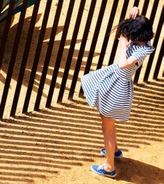 Women's breton striped heavy jersey dress - Petit Bateau