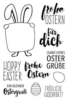 "Klartext-Stempelset ""Hoppy Easter"" von www.danipeuss.de #danipeuss #klartextstempel"