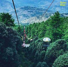 Awesome nature beauty& Chairlifts in Queen hill Station Muree Pakistan