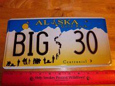 KODIAK Alaska State Background Metal Novelty License Plate