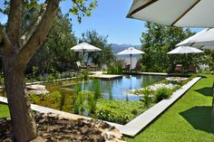 Angala Boutique Hotel & Guest House is 63 km away from Cape Town on the scenic slopes of the Simonsberg mountains in South Africa's Cape Winelands near Franschhoek. This exclusive country retreat, which lies in the heart of the Cape Winelands Outdoor Seating, Outdoor Decor, Hotels, Hotel Pool, Hotel Guest, Gazebo, Swimming Pools, Outdoor Structures, Patio