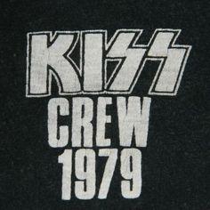 Vintage KISS 1979 CREW DYNASTY TOUR T-SHIRT 70S CONCERT
