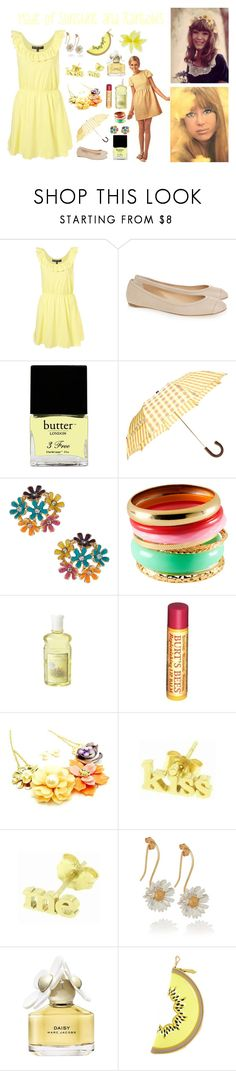 """The Girl That's Made Of Sunshine And Rainbows"" by seecaseyplay ❤ liked on Polyvore featuring Reed Krakoff, Butter London, Barneys New York, H&M, Burt's Bees, Fantasy Jewelry Box, Jennifer Meyer Jewelry, Alex Monroe, Marc Jacobs and Juicy Couture"