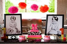 Love the pictures by the cake