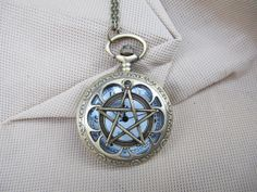 supernatural Pentacle Pocket Watch Necklace Jewelry Pendant men's gift on Etsy, $4.00